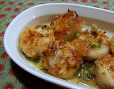 sauteed scallops with wine and garlic...use on white fish too!