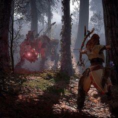 Horizon: Zero Dawn - Fighting a Sawtooth