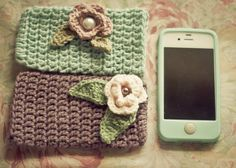 -Crochet iphone mobile cover by ~nini-ninique on deviantART