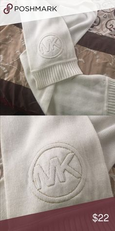 Michael kors scarf Cream with logo on one side.. Michael Kors Accessories Scarves & Wraps