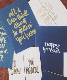 Hand lettered greeting cards by Emily Santangelo   Instagram: @santangeloo_
