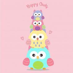 Vivid8 | Freepik Happy Daddy, Happy Fathers Day, Happy Mothers, Cute Baby Owl, Baby Owls, Cartoon Giraffe, Cute Cartoon, Doodle Baby, Unicorn Wallpaper Cute