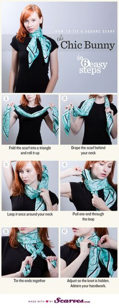Most of us only know a few ways to wear a scarf, but there are actually many that will give you added style with this simple garment. Great list!