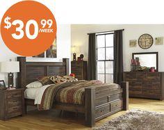 Majik Rent-to-Own Ashley Allymore Bedroom Set Id:B216 | Bedroom ...