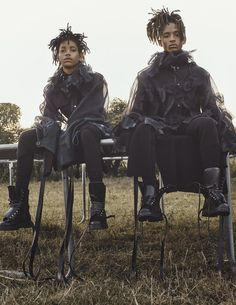 Interview Magazine presents September 2016 Issue with Willow and Jaden Smith photography by Steven Klein styled by Karl Templer, we're gonna present some excerpts of Pharrell Williams written words for Interview. Willow Smith, Brigitte Lacombe, Pharrell Williams, Jada Pinkett Smith, Estilo Dark, Raincoat Outfit, Templer, Male Fashion Trends, Fashion Editorials