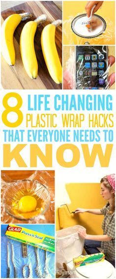 These 8 life changing plastic wrap hacks are THE BEST! I'm so glad I found these AMAZING tips! Now I can save a ton of money! Definitely pinning for later!