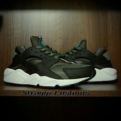 2ff175a57780 DARKSIDE iron green custom huaraches Still for sale on...  Www.swaggzcustoms.bigcartel.com
