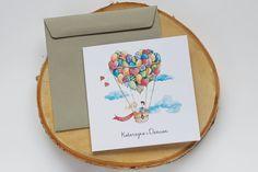 Zaproszenie ślubne Podróż balonem. Wszystkie informacje na temat tego zaproszenia, znajdziesz na naszej stronie! Pan i Pani Zakochani