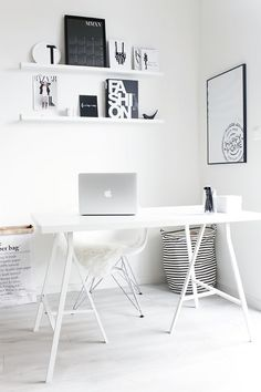 stylish, super minimalist Home Office design I think that minimalist style is one of the best idea for a Home Office, because it is stylish, simp.