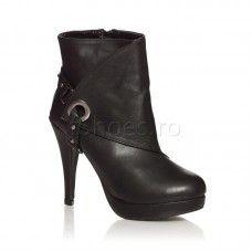 Botine Nano - Negru Booty, Ankle, Heels, Fashion, Heel, Moda, Swag, Wall Plug, Fashion Styles