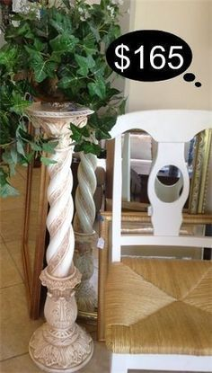 1 Available - rustic Tuscan inspired pedestals.    Yesterdays Treasures Consignment  5829 Lone Tree Way Suite J  Antioch, CA 94531  925 - 233 - 4547  www.Yesterdayststore.com  Info@yesterdayststore.com