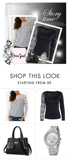 """Rosegal :)"" by dinaa45 ❤ liked on Polyvore"