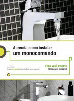 As torneiras monocomando deixam qualquer banheiro mais charmoso. E esse detalhe pode ser instalado por você mesmo. http://leroy.co/28UJnzI