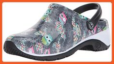 AnyWear Women's Zone Clog, Too Cute to Hoot, 8 Medium US - Work and saftey shoes for women (*Amazon Partner-Link)