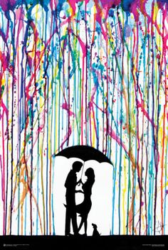 SPRAY PAINT ROMANCE POSTER COUPLE TWO-STEP