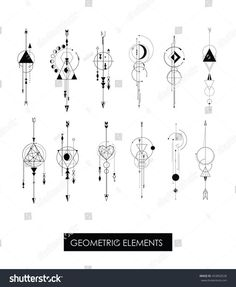 Pack of high quality geometric elements. Sacred geometry.