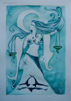 Libra ~ This beautiful woman represents the Zodiac of Libra ~ painted by Roberta Orpwood, SoulBirdArt. Please join me over on facebook to follow my progress on new artworks. RobertaOrpwoodFineArtist