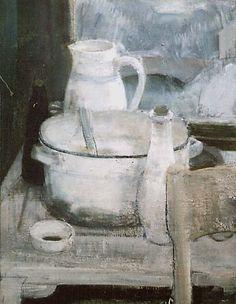 Imants Vecozols Winter . 1997. oil on canvas 86x76 More : http://www.galerijadaugava.lv/eng/art_vecozols.php