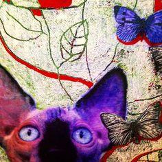 Ausschnitt aus meinem Bild,Acryl und Ölkteide