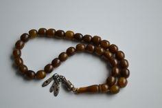 Antique Yemeni Islam Prayer Beads Bakelite Faturan Necklace Silver Aloy Tassels | eBay