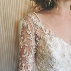 New @rebeccaschoneveld! That beadwork is everything #nybfw #bridalmarket