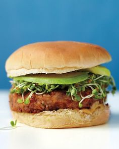 Easy Veggie Burger Recipe - 1/2 cup bulgur  1 can (15.5 ounces) pinto beans, rinsed and drained  1/2 cup grated Swiss cheese  1/2 cup finely grated carrots (from 2 medium carrots)  1 scallion, thinly sliced  1 large egg, lightly beaten  Coarse salt and ground pepper  1 tablespoon olive oil