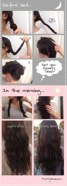 10 Amazing No-Heat Hairstyles you need to Know. These styles are quick and easy ., HAİR STYLE, 10 Amazing No-Heat Hairstyles you need to Know. These styles are quick and easy and great summer hairstyles or quick on the go hairstyles. No Heat Hairstyles, Diy Hairstyles, Amazing Hairstyles, Easy Summer Hairstyles, Hairstyle Ideas, Makeup Hairstyle, Latest Hairstyles, Easy Curled Hairstyles, Wedding Hairstyles