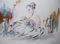 Ballerina Painting-Mixed Media Series