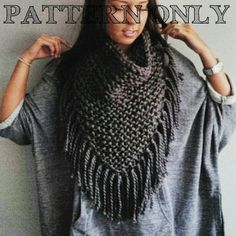 Knitting Pattern for the Half Poncho  Knitting by rustiknits