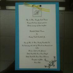 Homemade Wedding Invitations