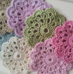Circle Flower Motif to Crochet.  Many crochet patterns on this site are just diagrams, I often get asked in the comments for written instructions, once you learn how to read these diagrams you won't believe how easy it is, it is actually better than written instructions! So to start you off I have described …