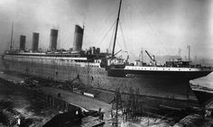 Titanic under construction in Ireland