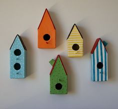 Paper maché bird houses! I have been looking for this photo!
