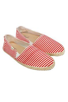 ESPADRILLE Red Stripe Organic Cotton Shoes