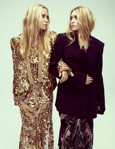 Mary-Kate Olsen and Ashley Olsen photographed by Alexei Hay for Bazaar UK, April 2012