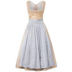 "Lena Hoschek Silk Wedding Dirndl ""Franziska"" in blush with intricate frilled neckline Dirndl Blouse, Rock, Traditional Outfits, Ruffles, Bodice, Two Piece Skirt Set, Summer Dresses, My Style, Skirts"