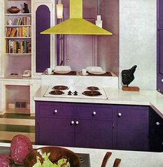 purple kitchen | Purple Kitchen Cabinets and Pictures | photos pictures images of home ...
