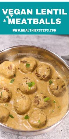 Vegetarian Options, Vegetarian Recipes, Cooking Recipes, Healthy Recipes, Delicious Recipes, Healthy Food, Lentil Meatballs, Vegan Meatballs, Pescatarian Recipes