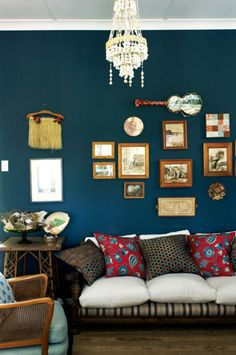 Home owners Chrissie and Richard have created a cosy home in mixing country and beach style.