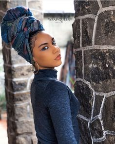 Get the most sought after handcrafted Head Wraps in the fashion industry. Shop for exclusive bold printed and solid color Headwraps, Women's Clothing, & accessories. Hair Wrap Scarf, Hair Scarf Styles, Curly Hair Styles, Natural Hair Styles, African Hair Wrap, African Head Wraps, Scarf Hairstyles, African Hairstyles, Bandana