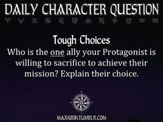 ✶DAILY CHARACTER QUESTION ✶
