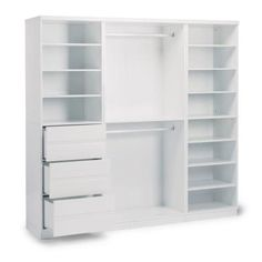 Home Styles Linear White Storage Wall Unit - The Home Depot Bedroom Closet Design, Master Bedroom Closet, Closet Designs, Wall Storage, Bedroom Storage, Storage Spaces, Fresh To Go, Closet Layout, Closet Remodel
