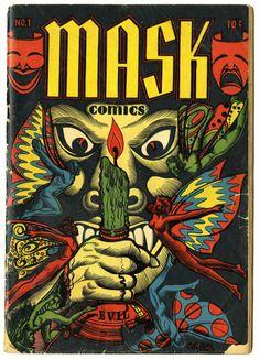 L.B. Cole cover for Mask comics
