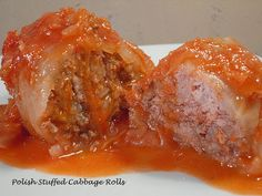 Comfy Cuisine: Polish Stuffed Cabbage Rolls this recipe is the best ever. However I put a layer of sauerkraut and chopped up left over cabbage and top with rolls and rest of the ingredients and roast in oven. Serve with rye bread. Cabbage Rolls Polish, Polish Stuffed Cabbage, Easy Cabbage Rolls, Cabbage Rolls Recipe, Cabbage Recipes, Beef Recipes, Cooking Recipes, Recipies, Pastry Recipes