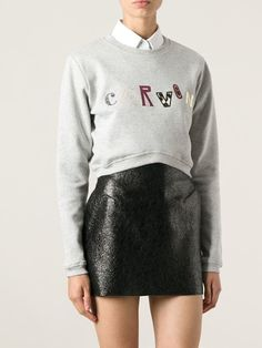 Carven Embroidered Logo Sweatshirt - Voo Store - Farfetch.com