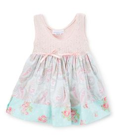 Look at this Pink Lace Paisley Dress - Infant, Kids & Tween on #zulily today!