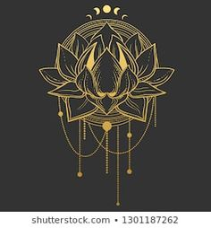 Portfólio de Peratek no Shutterstock Tarot Tattoo, Ganesha Tattoo, Mandala Nails, Mandala Art, Art Lotus, Aztec Nail Art, Taurus Constellation Tattoo, Pagan Art, Fractal
