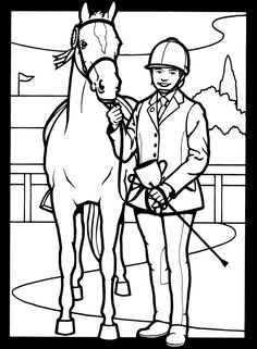 Jumping horse coloring page | Horse ideas | Pinterest ...