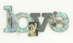 premo! Antiqued LOVE Sign