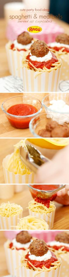 Want to bring spaghetti to your next party in an easy-to-eat handheld way? Perfect twist on this classic. #saucesome